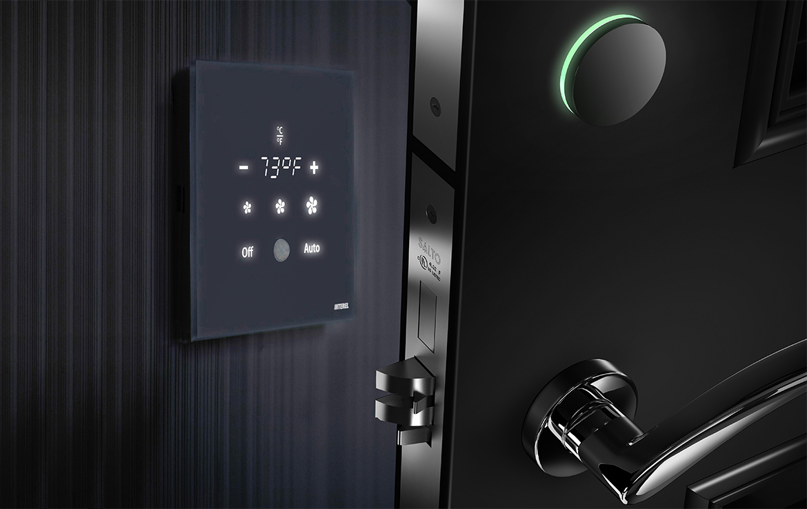 SALTO Systems and INTEREL deliver BLE Wireless lock integration for guest room connectivity