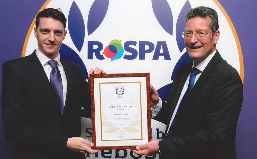 Colt receives RoSPA Order of Distinction Award 2019